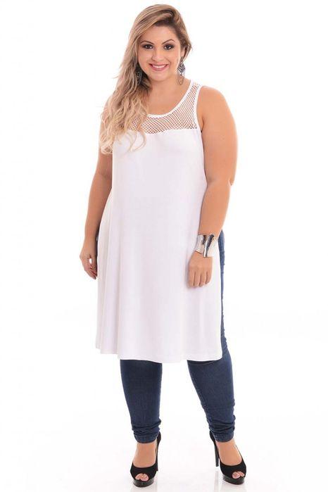 Maxi T-shirt White Plus Size