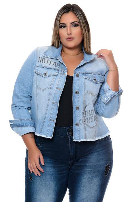 Jaqueta Plus Size Estampada