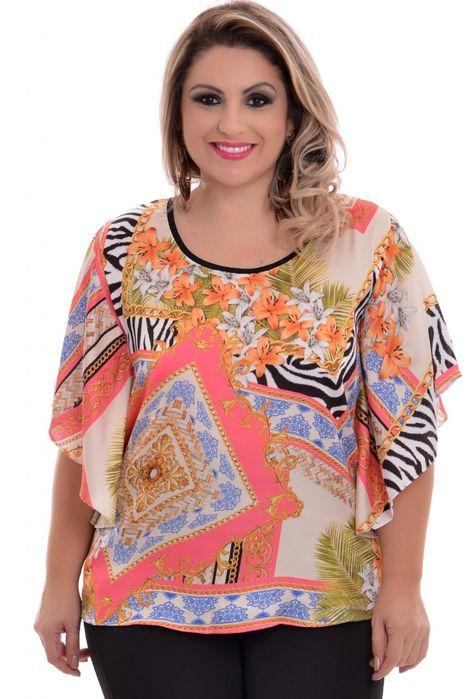 Blusa Plus Size Linder Print