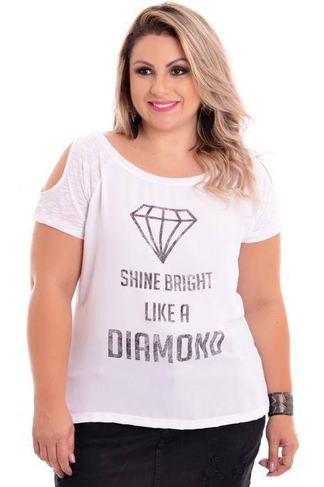 Blusa Plus Size Like A Diamond