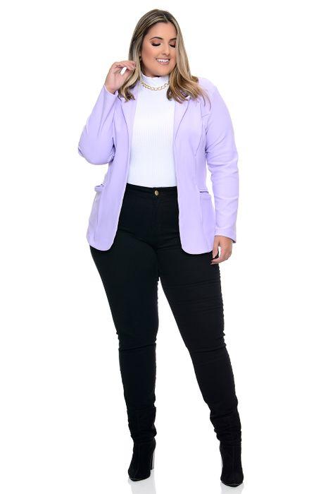 Blazer Plus Size Conforto Extremo Lilás