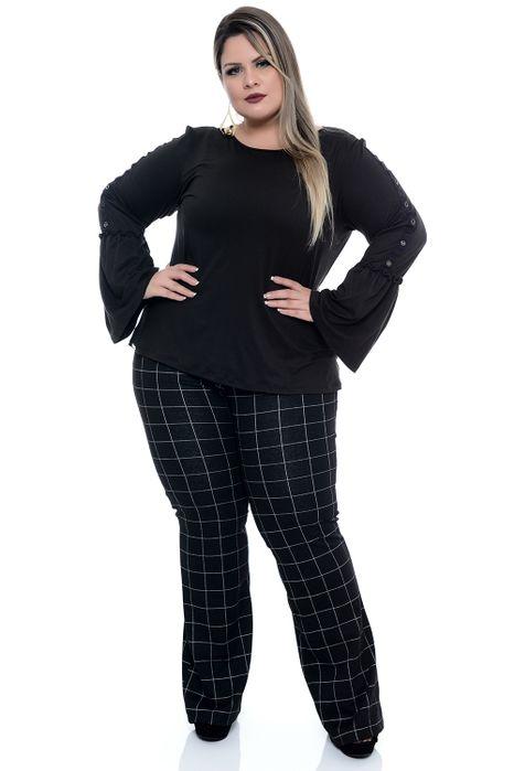 Blusa Plus Size Suéde
