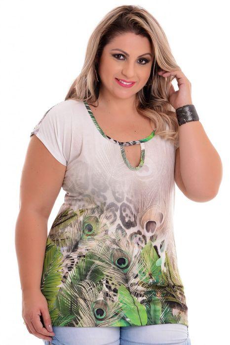 Blusa Plus Size Birdy Green
