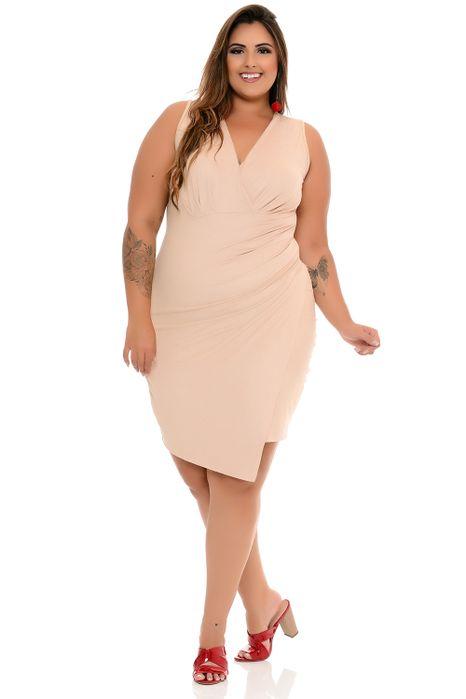 Vestido Plus Size Transpassado Suede